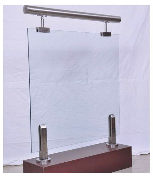 SS Pipe Wood Glass Civic Stand Horizontal Railing Penal