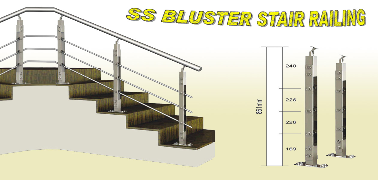 Stainless Steel Baluster SS Railing