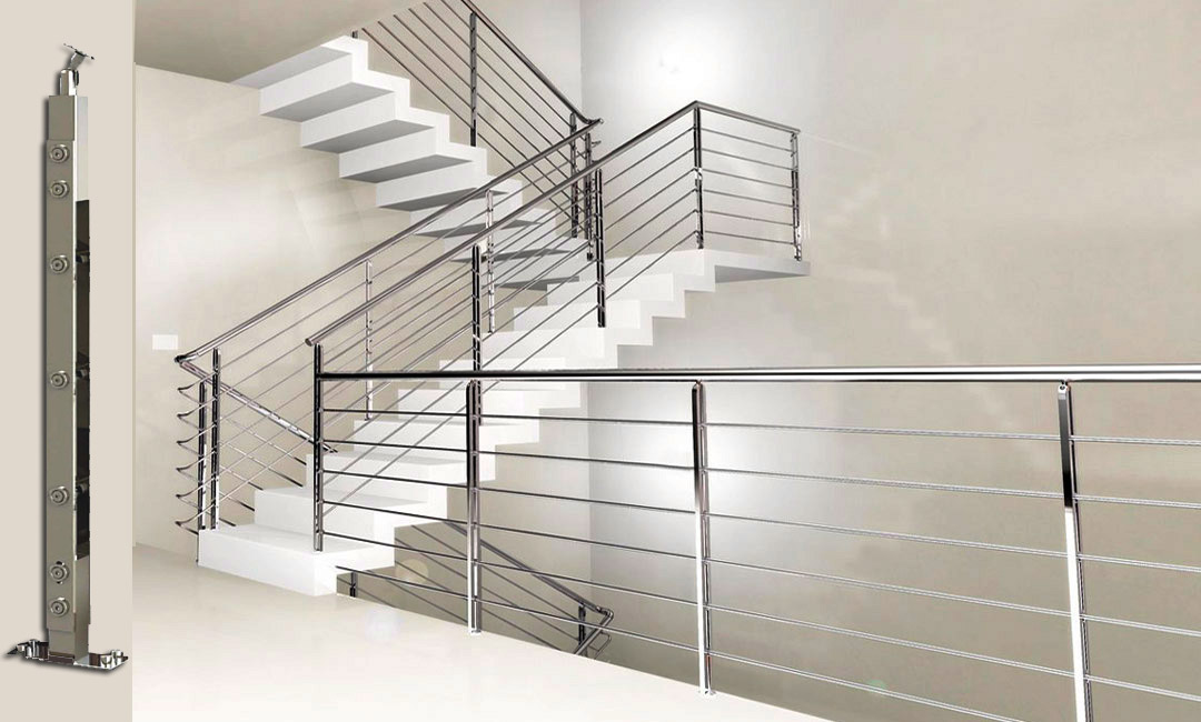 STEEL PLUS Designer SS Balustrade Horizontal SS Stair Railings