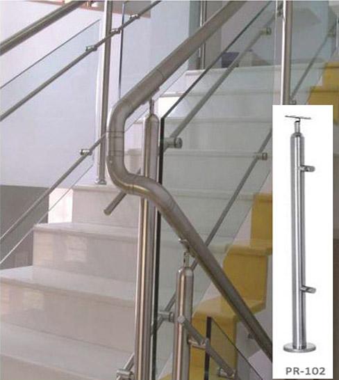 Glass Spiral Stairway Designer Railing