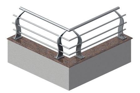SS Corner Design Railing shape