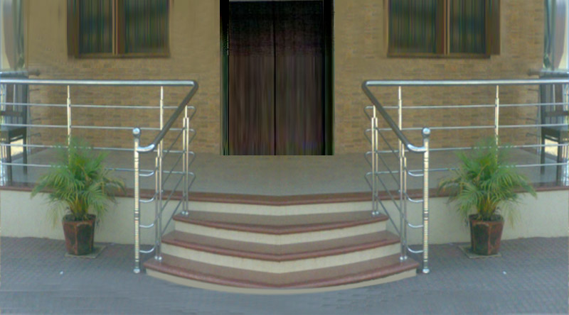 Home Compound SS Bluster SS Pipe Railing