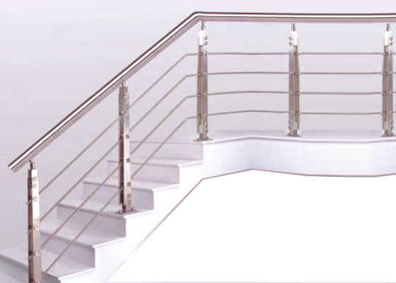 Steel Pipe SS Square Bluster Horizontal Stair Railing