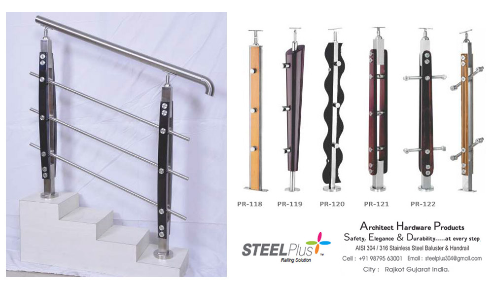 Manufacturer Of Steel Plus Hardware SS Railing Railing